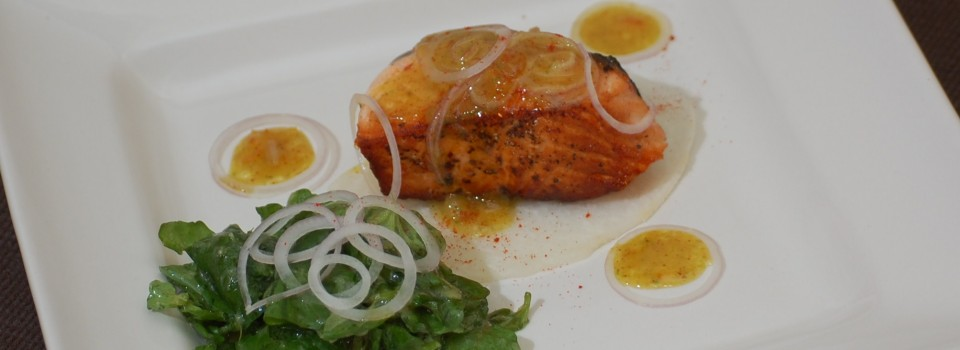 Salmon with Watercress Salad